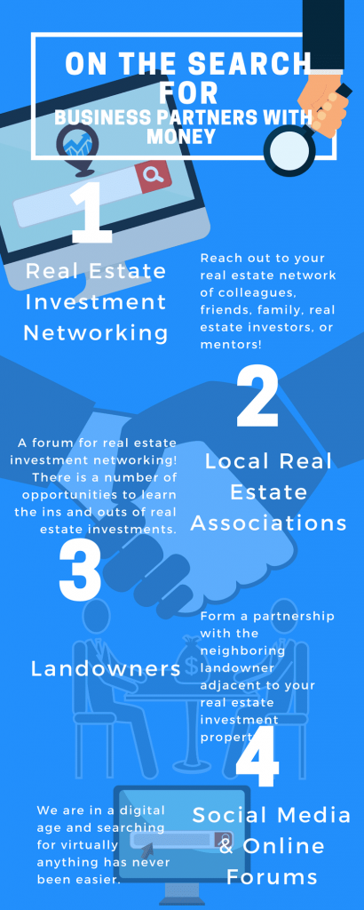 Real Estate Business: How to Find a Business Partner with Money