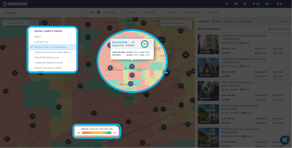 Using a Heat Map Tool to Analyze a Real Estate Market - 2