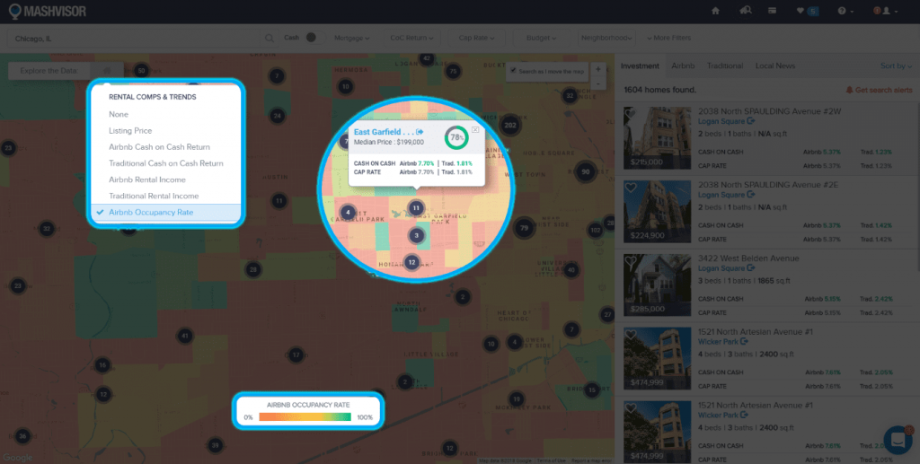 Using a Heat Map Tool to Analyze a Real Estate Market - 6