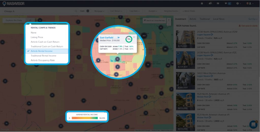 Using a Heat Map Tool to Analyze a Real Estate Market - 4