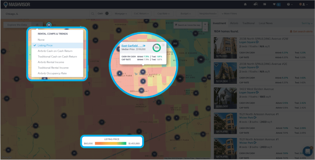 Using a Heat Map Tool to Analyze a Real Estate Market - 1