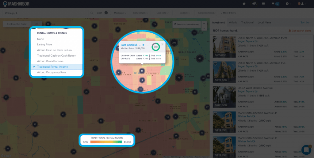 Using a Heat Map Tool to Analyze a Real Estate Market - 5