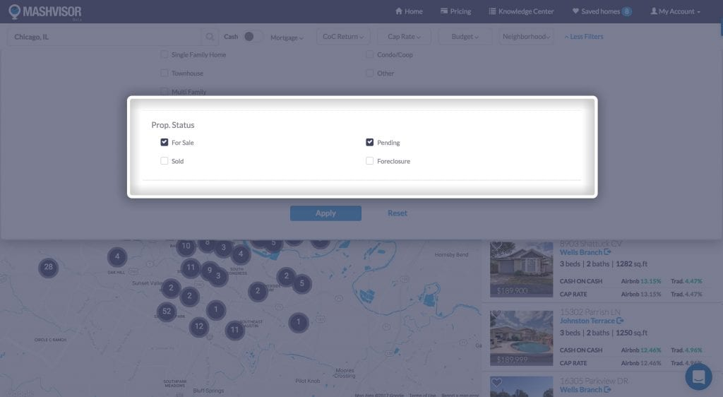 use Mashvisor's tool when buying foreclosed homes