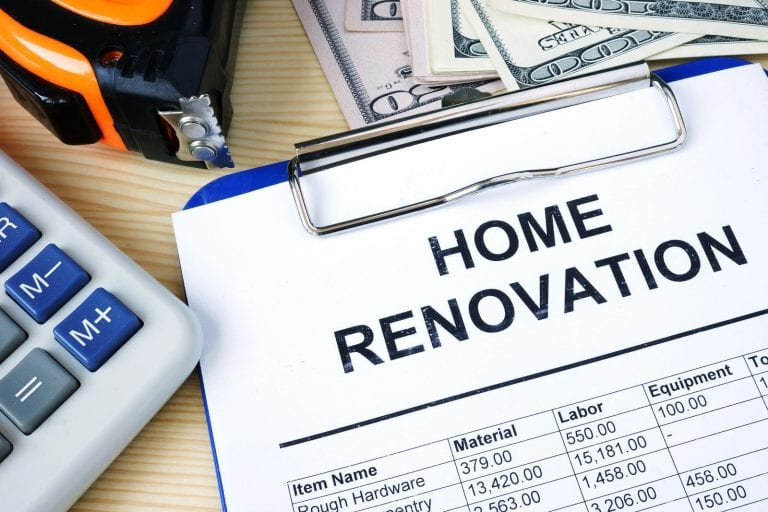 renovations costs and after repair value