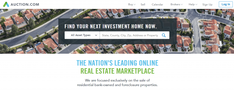 find investment property for sale on Auction.com