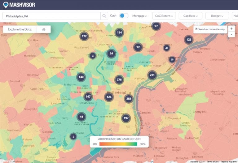 Should I Invest in Airbnb Philadelphia in 2020? Heatmap Neighborhood Analysis of Airbnb Cash on Cash Return in the Philadelphia Real Estate Market
