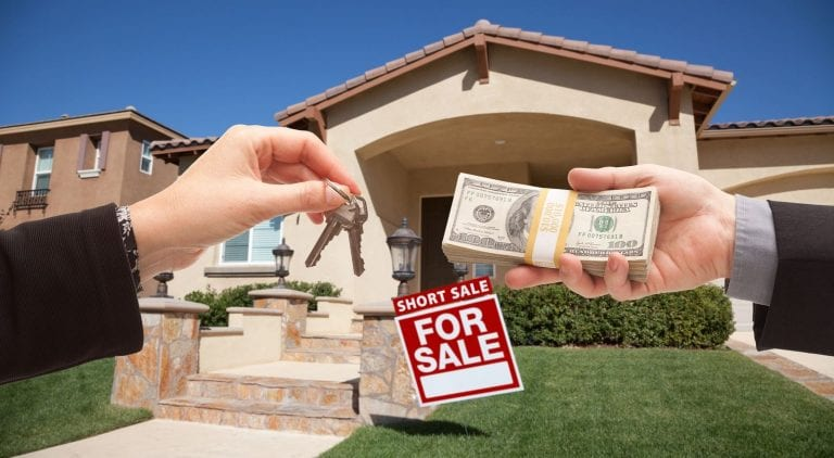 financing a short sale property with cash