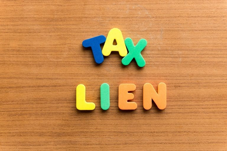 how to find out if there is a lien on a property tax lien