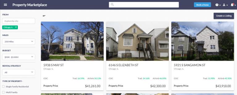 real estate investor software - property marketplace
