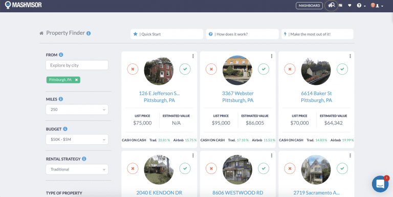 investment property search engine - property finder