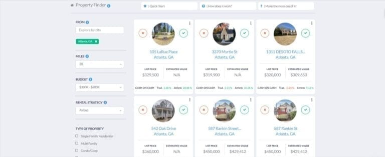 Mashvisor - The Best Airbnb Income Calculator in 2020 Property Finder in the Atlanta Real Estate Market