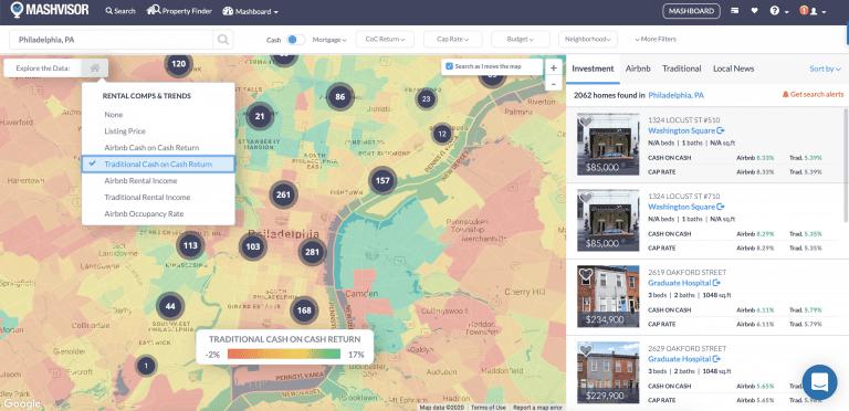 Philadelphia neighborhoods heatmap
