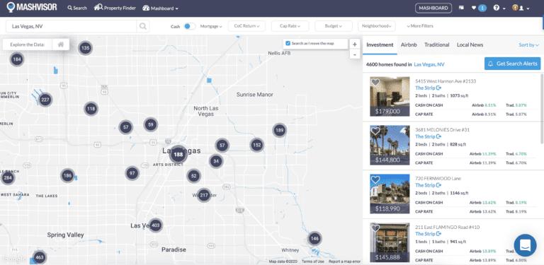 Las Vegas real estate for sale map