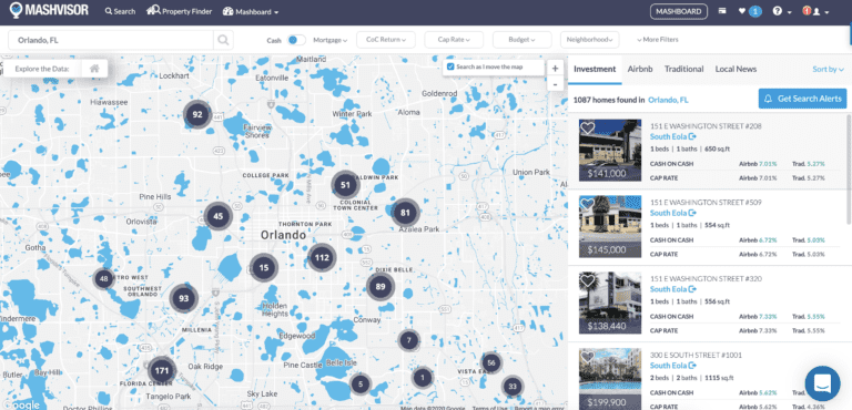 Map of Orlando real estate market
