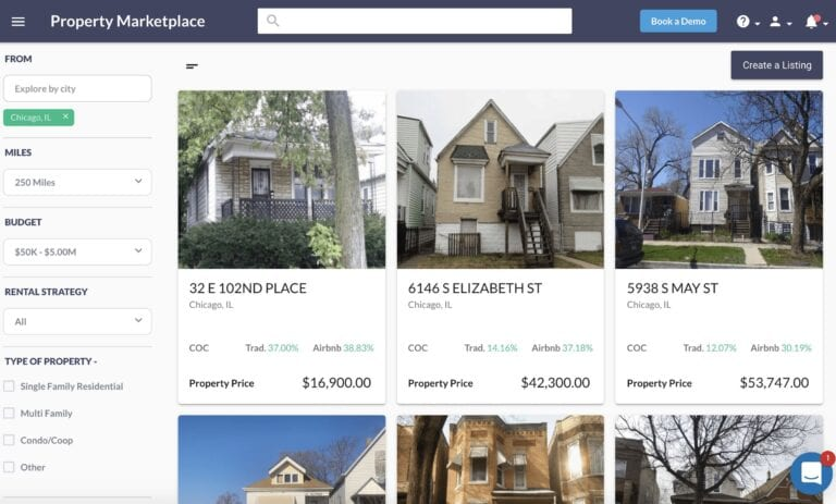real estate game - property marketplace