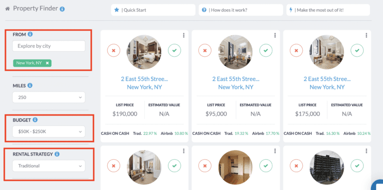 NYC real estate market - property finder