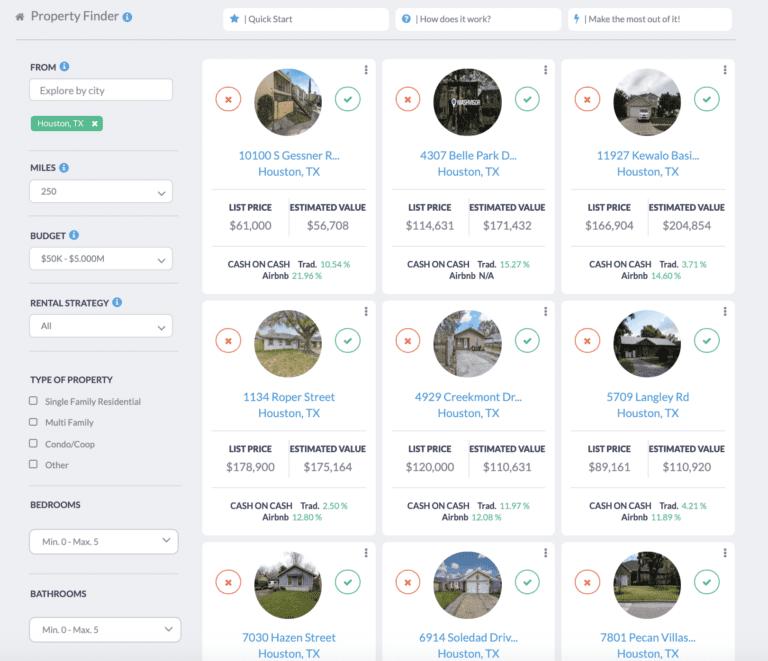 find homes under 50k with a rental property finder