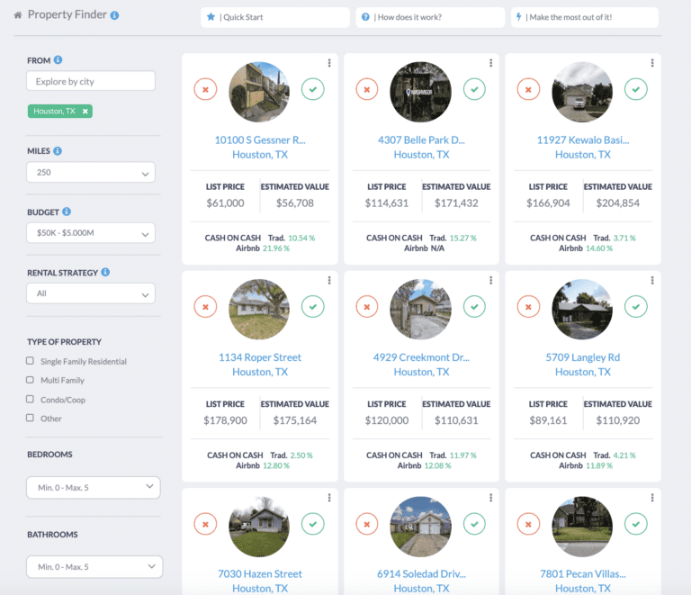 a property finder for buying Airbnb property