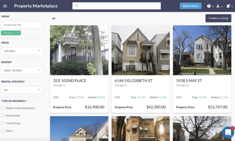 marketplace for rental income property for sale