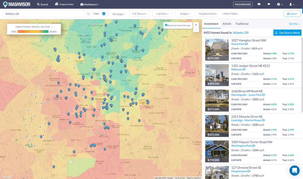 How to Find a Good Investment Property with the Mashvisor Real Estate Heatmap