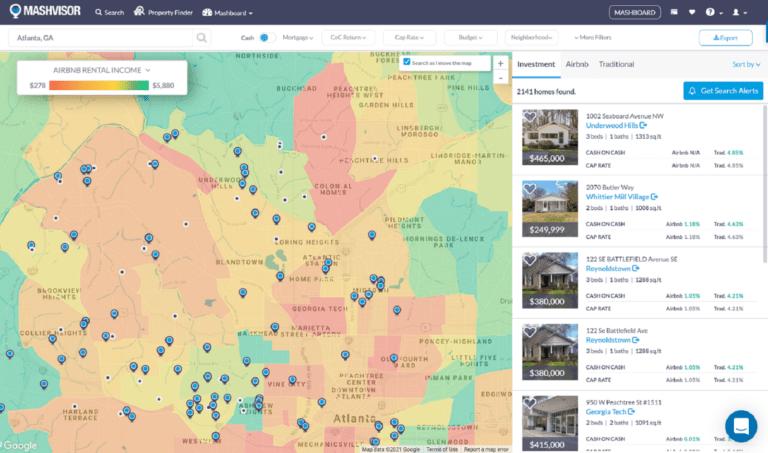 21 Airbnb Tips in 2021: Use Mashvisor's Heatmap for Neighborhood Analysis