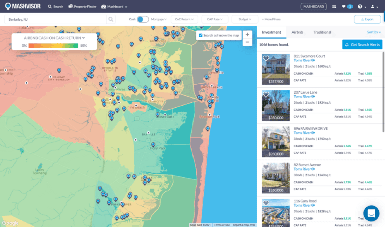 10 Best Places for Buying a Vacation Home in 2021: Mashvisor's Heatmap