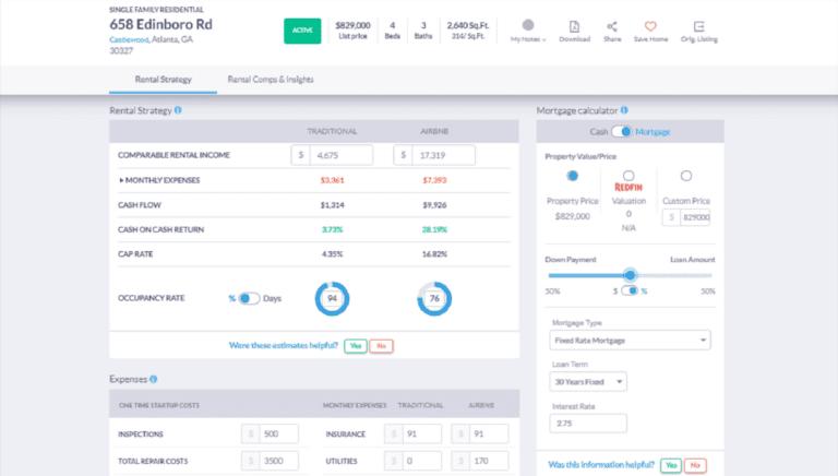 Airbnb Estimator 2021: Mashvisor Investment Property Analysis