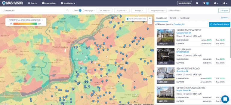 Most Profitable Locations for Traditional Cash on Cash Return 2021: Neighborhood Heatmap