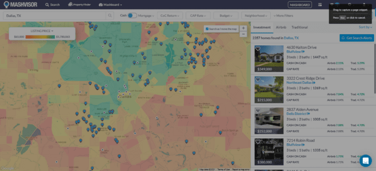 Performing Real Estate Market Analysis in 2021 with the Mashvisor Heatmap