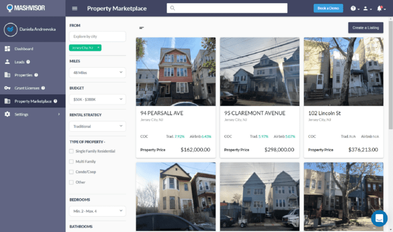 The property marketplace is a great platform for finding a single family home.