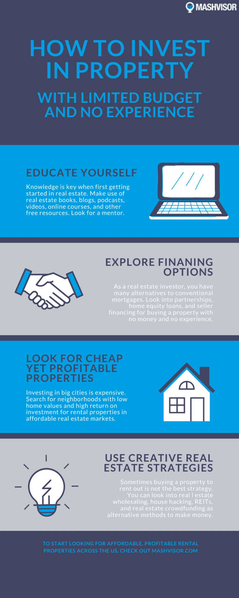 How to Invest in Property With Limited Budget and No Experience Infographic