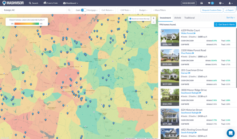 Use the Heatmap to find profitable real estate investments