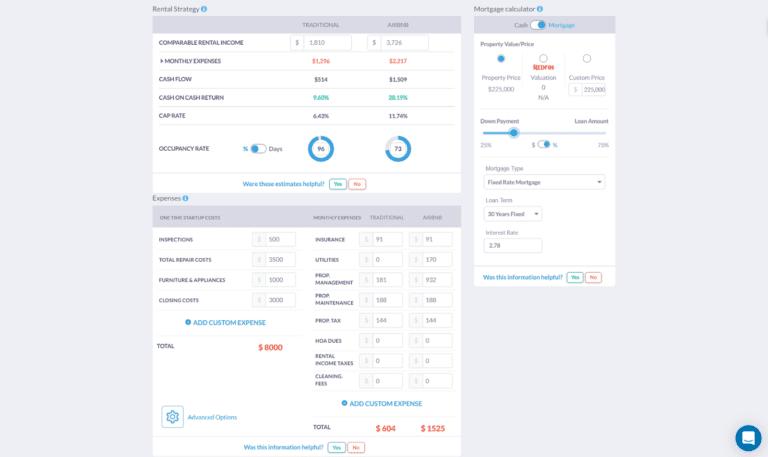 AirDNA vs. Mashvisor: Investment Property Analysis