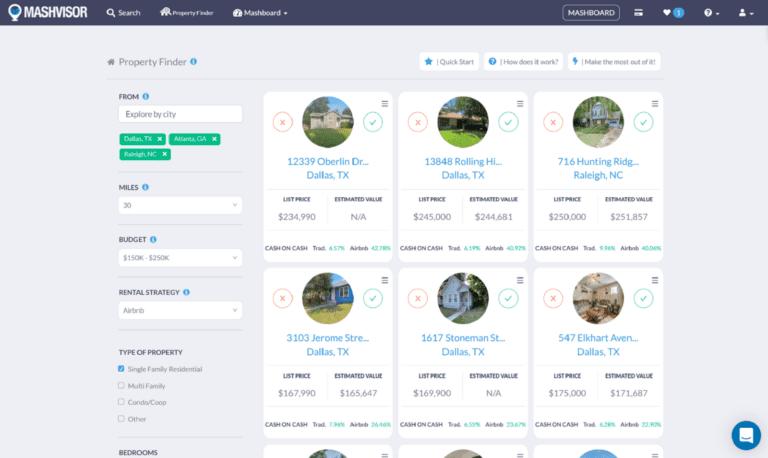 AirDNA vs. Mashvisor: Property Finder