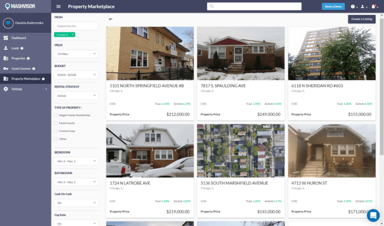 The property marketplace helps you find off market properties