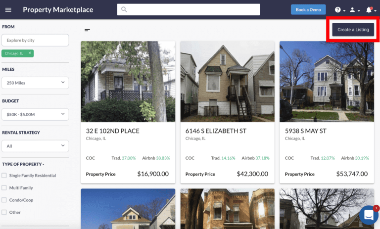 You can list your property off-market on the Property Marketplace